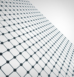 Wireframe polygonal element 3d perspective grid vector