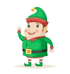 Christmas Elf Character New Year Isolated Icon vector image