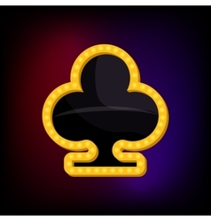 Club suit icon cartoon style vector image vector image