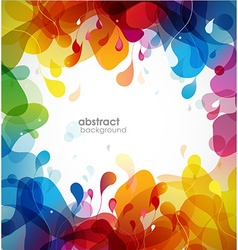 Colorful abstract background with flowers vector image vector image