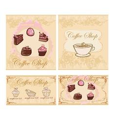 menu coffee shop set vector image vector image