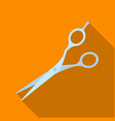 scissorsbarbershop single icon in flat style vector image vector image