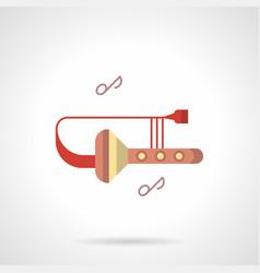 Trombone club flat color icon vector