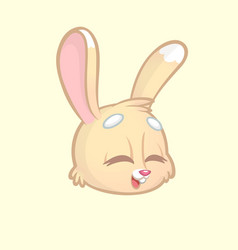 cartoon rabbit head isolated white vector image