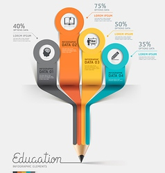 Education pencil Infographics template vector image