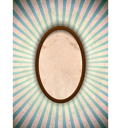 Ellipse frame with blue rays vector image