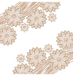 flower decoration vector image vector image