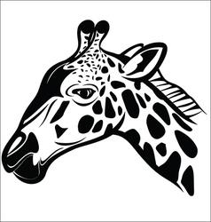 Giraffe head 1 vector image vector image
