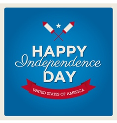happy independence day usa card fonts vector image vector image