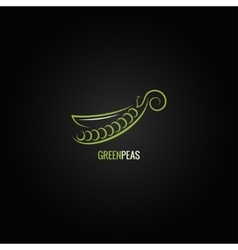 peas design background vector image
