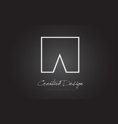 a square frame letter logo design with black and vector image