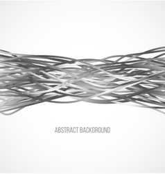 Absract gray background with horizontal lines vector