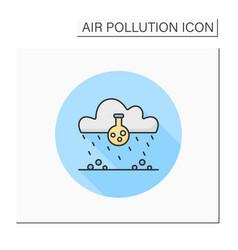 Acid rain color icon vector