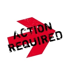 Action required stamp vector