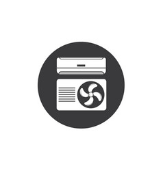 Airconditioner icon design vector