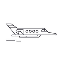 aircraft thin line icon concept aircraft linear vector image