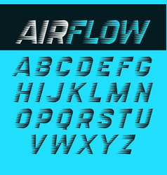 Airflow alphabet vector
