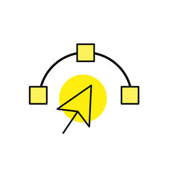 arrow cursor with nodes design image vector image