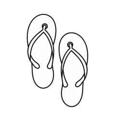 Beach thongs icon outline style vector