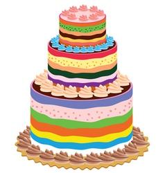 Big cake vector