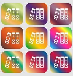 binders icon vector image