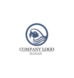bird logo and symbols template red color vector image