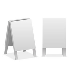 Blank empty advertising sign isolated on white vector