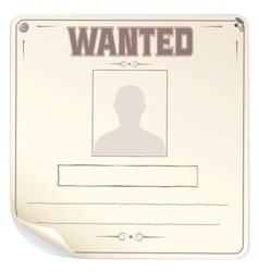 Blank Wanted Poster vector