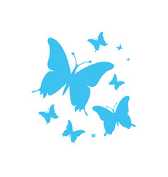 blue butterflies for your design vector image