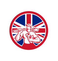 british drainlayer union jack flag icon vector image