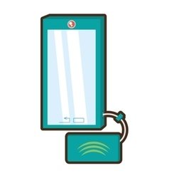 Cartoon smart phone device technology mobile vector