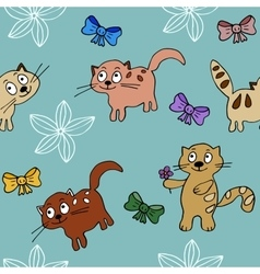 Cats backround in simple style vector