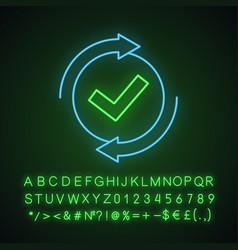 Checking process neon light icon vector