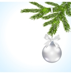 Christmas card Green branches of a Christmas tree vector