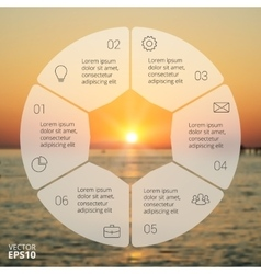 Circle line infographic vector
