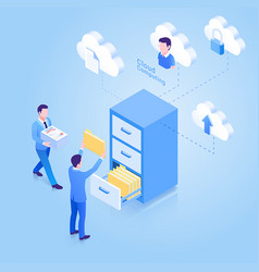 cloud computing isometric concept vector image