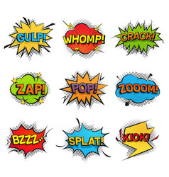 Comic funny speech bubbles collection set of vector