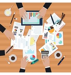 Coworking ofice men vector image