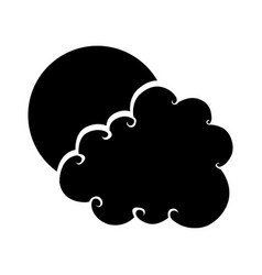 Cute cloud drawing icon vector