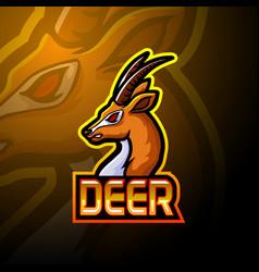 deer esport logo mascot design vector image