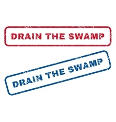 Drain The Swamp Rubber Stamps vector