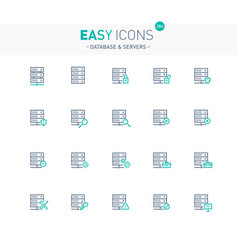 Easy icons 28e database vector