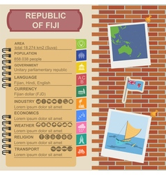 Fiji infographics statistical data sights vector