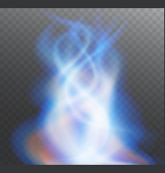 fire blue flame bright transparent vector image vector image