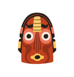 funny ethnic indian tribal mask with round eyes vector image