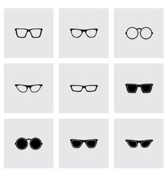 glasses icon set vector image