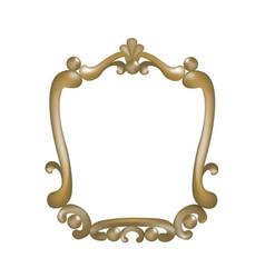 golden mirror frame vector image