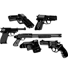 Gun Set 1 vector