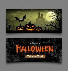 halloween banners horizontal collections vector image