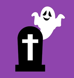 Headstone and ghost vector